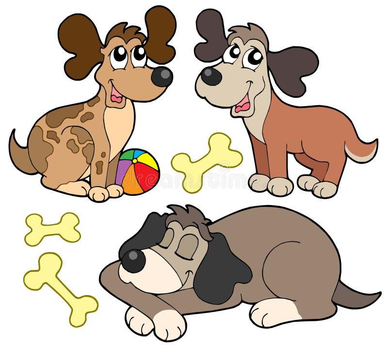 gulliga hundar för samling