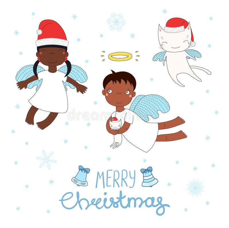 Gulliga julänglar stock illustrationer