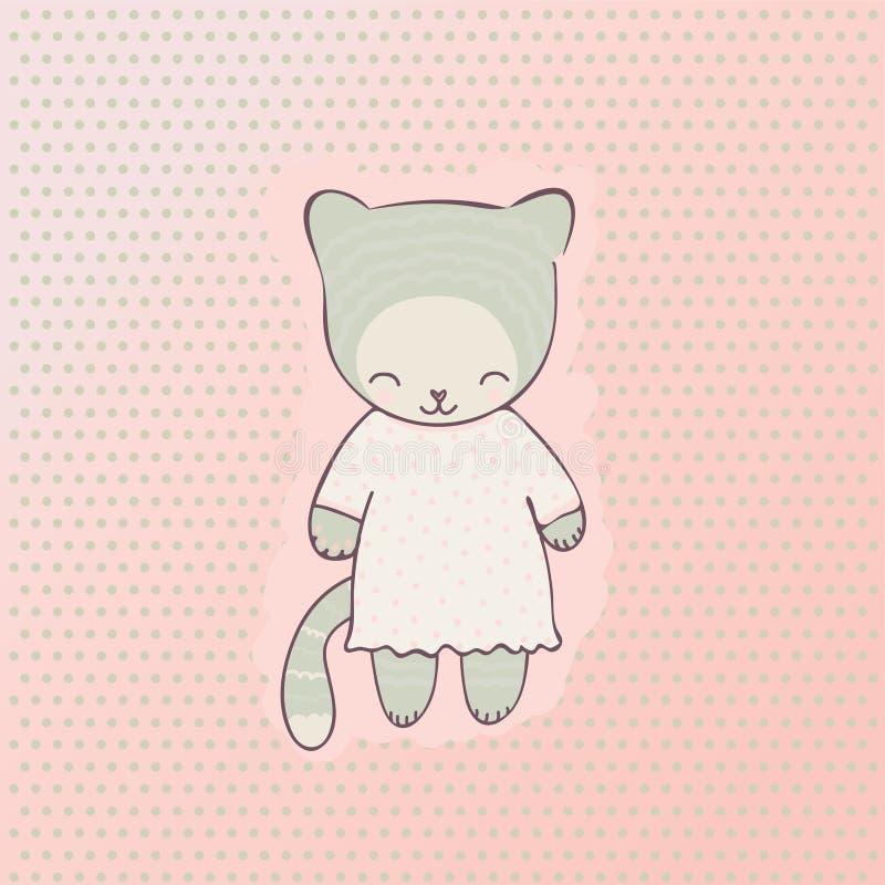 Gulliga kattkläder royaltyfri illustrationer