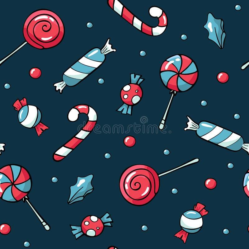 Gulliga klotterjulbest?ndsdelar Tecknad illustration f?r vektor hand Juls?tsakmodell Design för utskrivavet, tyg royaltyfri illustrationer