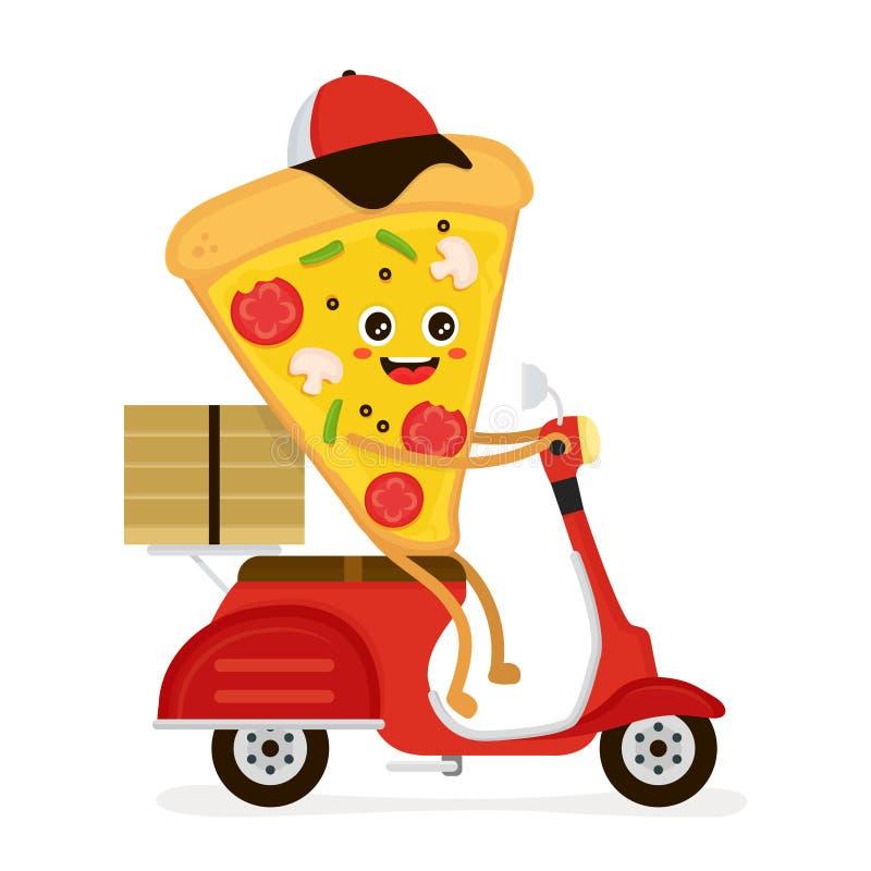 Gulliga le roliga gulliga pizzaskivaritter vektor illustrationer