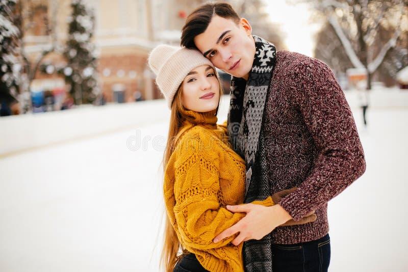 Gulliga par i en isarena royaltyfri fotografi
