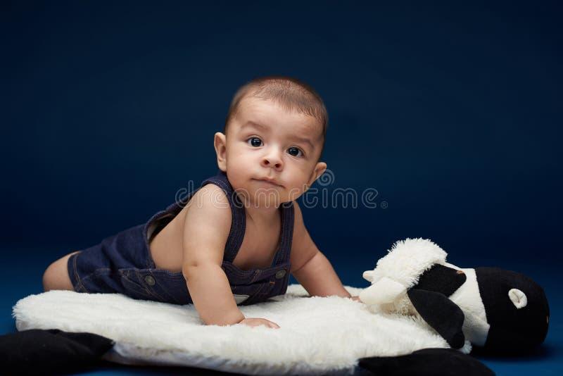 Gulliga små behandla som ett barn pojken royaltyfria bilder