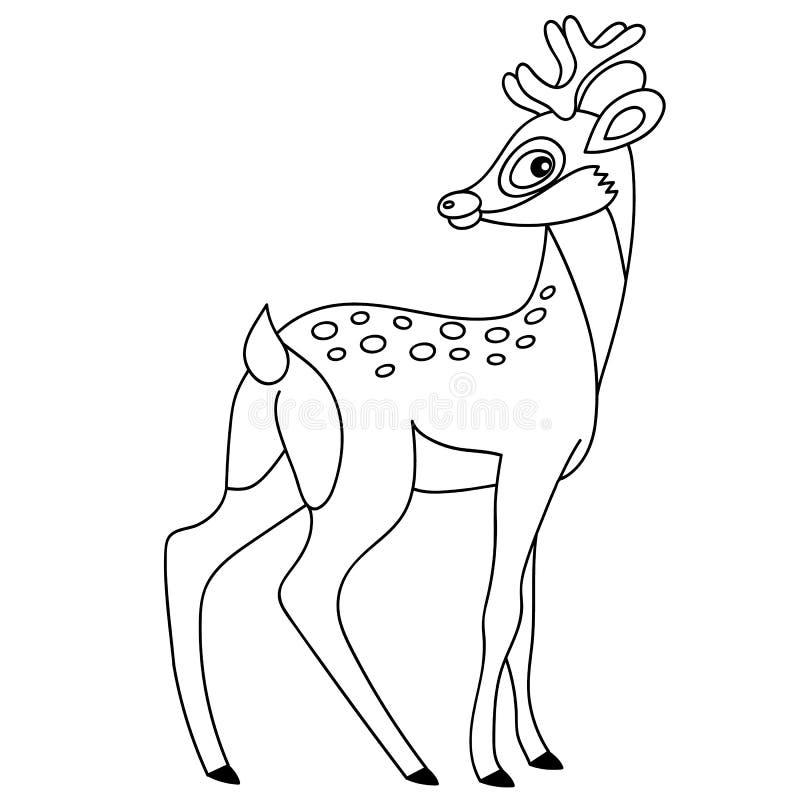 Gulliga tecknad filmhjortar för vektor royaltyfri illustrationer