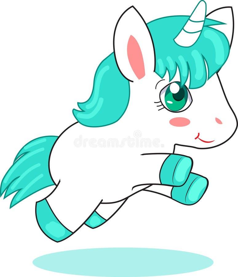 Gulliga Unicorn Pegasus vektor illustrationer