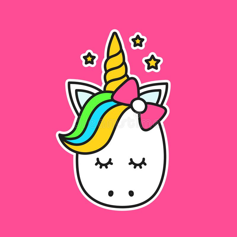 Gulliga Unicorn Vector stock illustrationer
