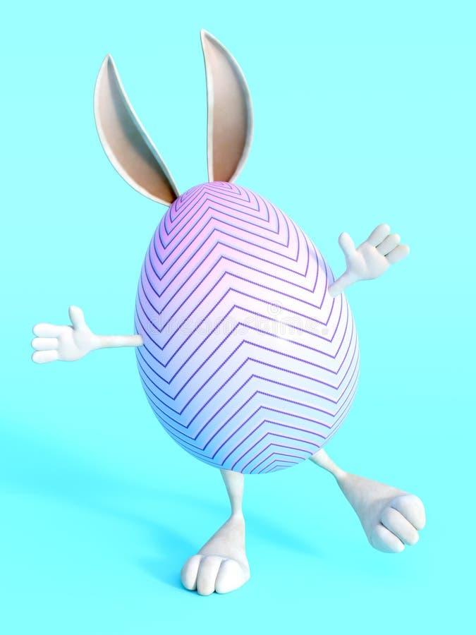 Gulligt ägg för påskkanin stock illustrationer