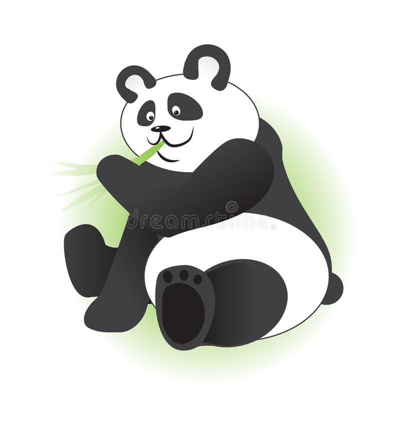 Gulligt äta för panda arkivbild
