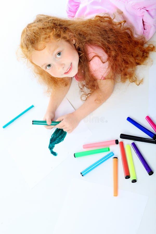 gulligt barn arkivbild