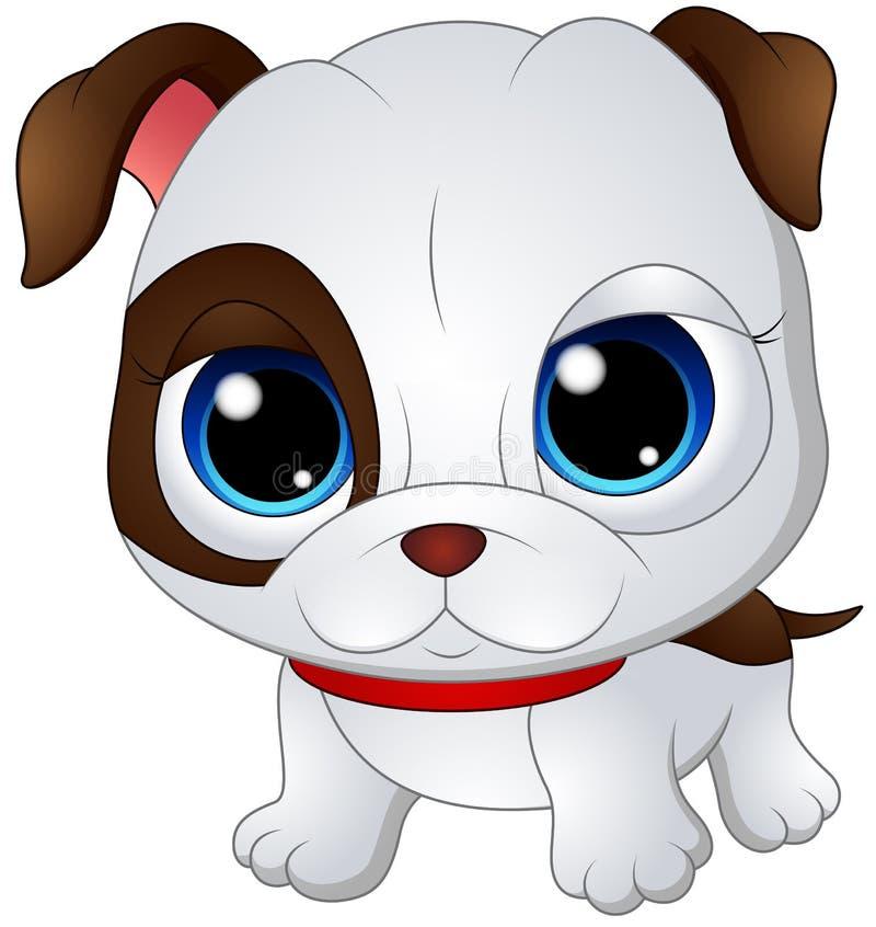 Gulligt behandla som ett barn bulldoggen stock illustrationer