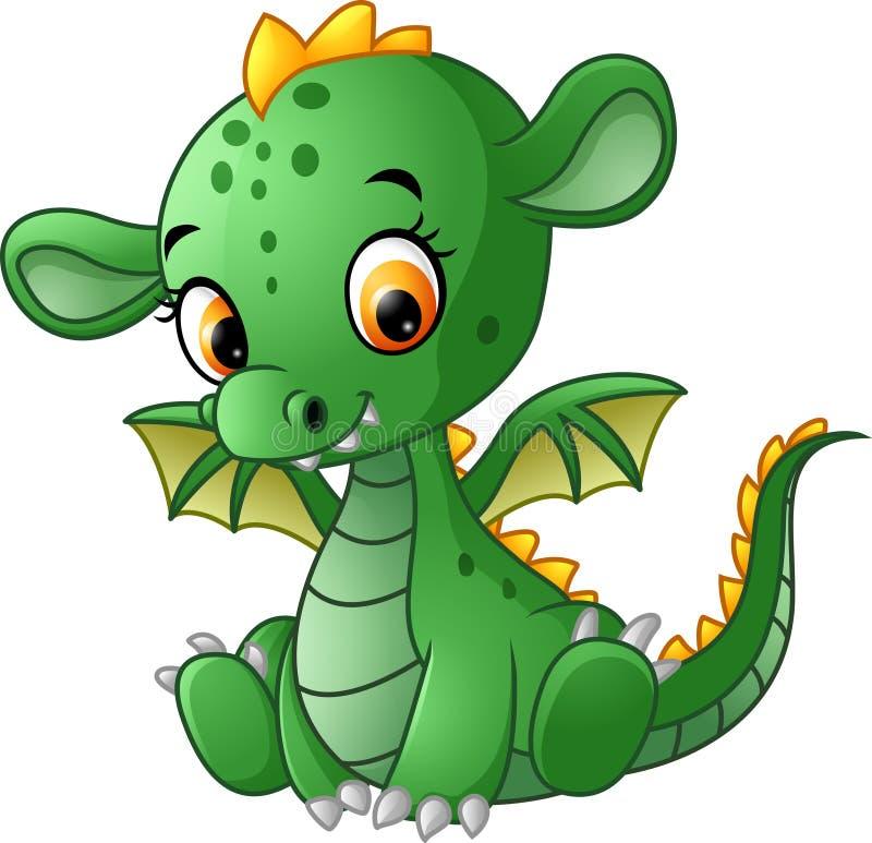 Gulligt behandla som ett barn draken vektor illustrationer