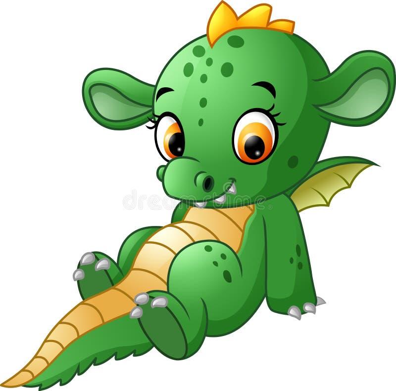 Gulligt behandla som ett barn draken stock illustrationer