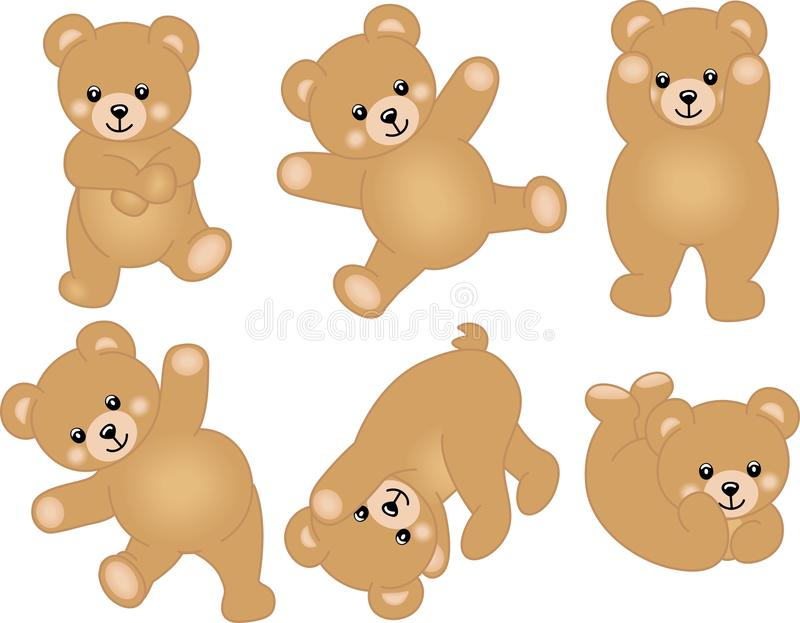 Gulligt behandla som ett barn nallebjörnen