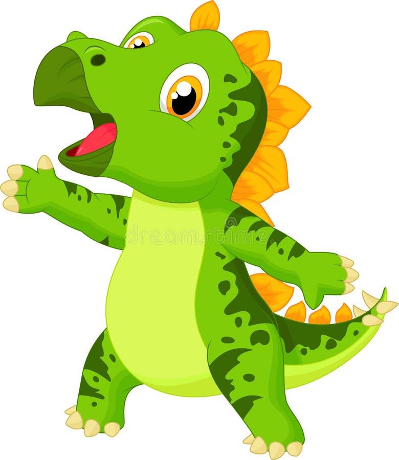 Gulligt behandla som ett barn triceratopstecknade filmen stock illustrationer