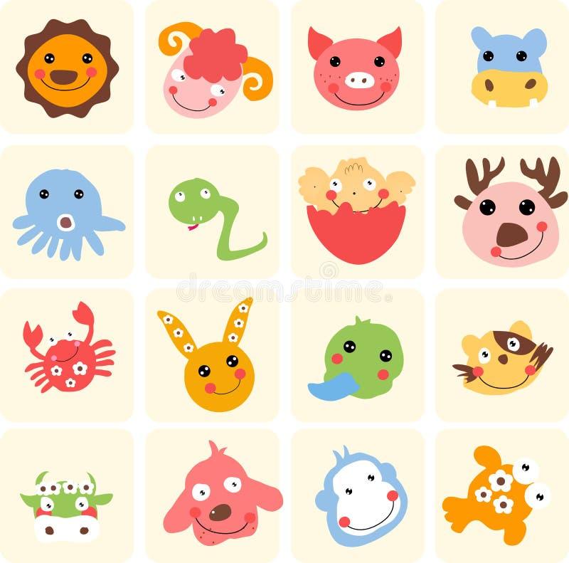 gulligt djur vektor illustrationer