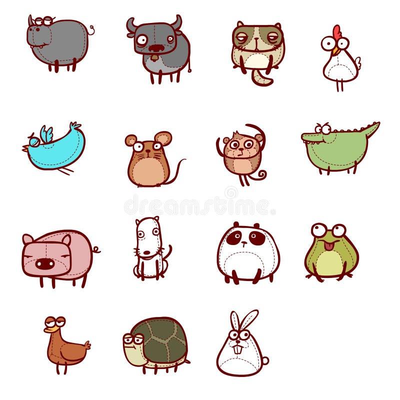 gulligt djur royaltyfri illustrationer