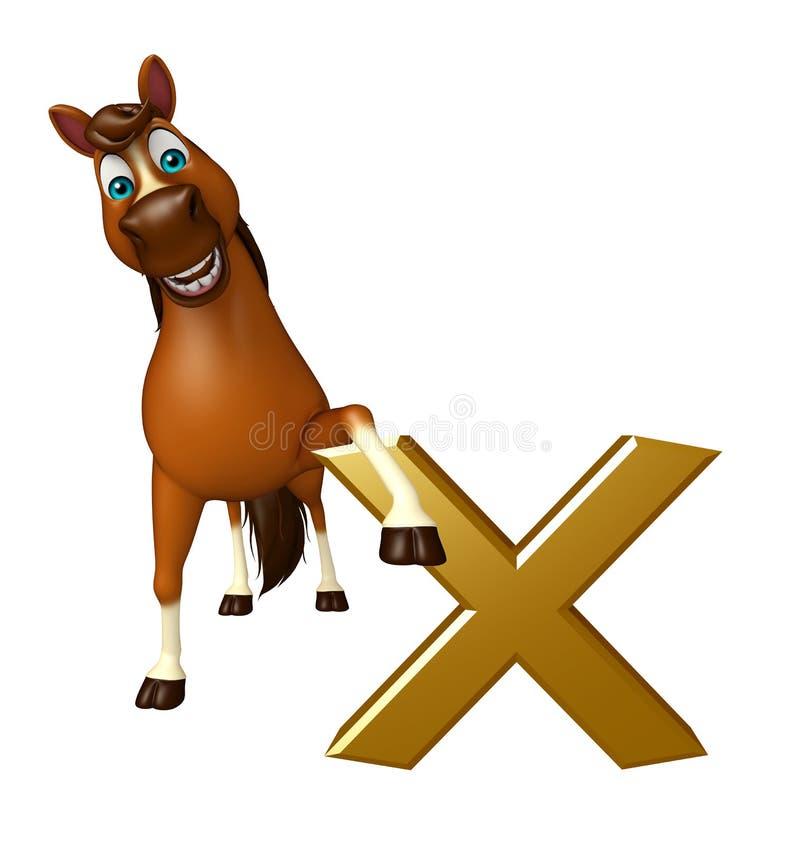 gulligt hästtecknad filmtecken med det arga tecknet vektor illustrationer