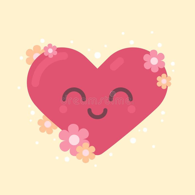 Gulligt hjärtatecken för valentin ferie royaltyfri foto