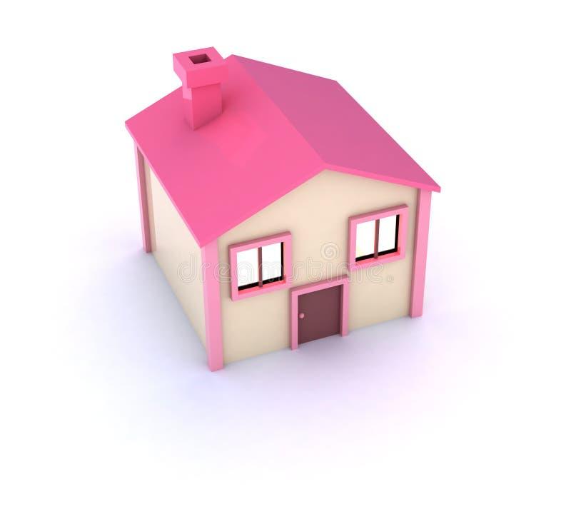 gulligt hus little royaltyfri illustrationer