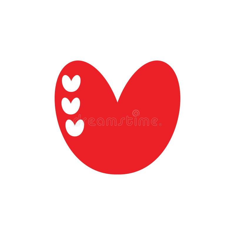 Gulligt konstnärligt begrepp för logo för förälskelsehjärtaillustration royaltyfri illustrationer