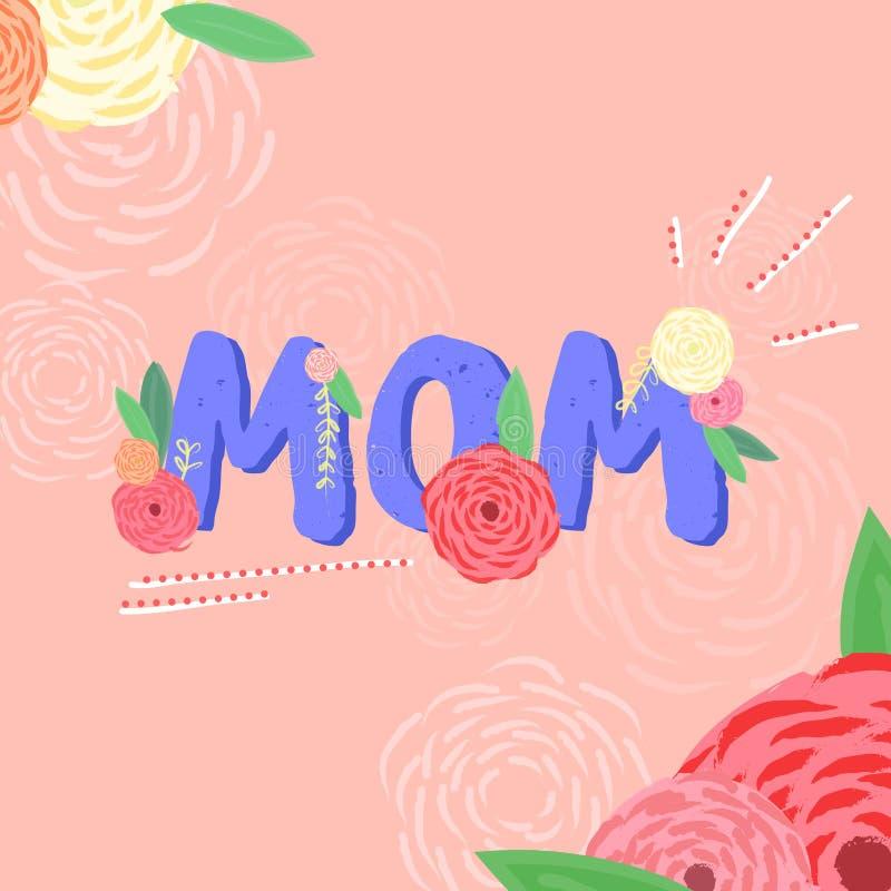 Gulligt kort om mödrar vektor illustrationer