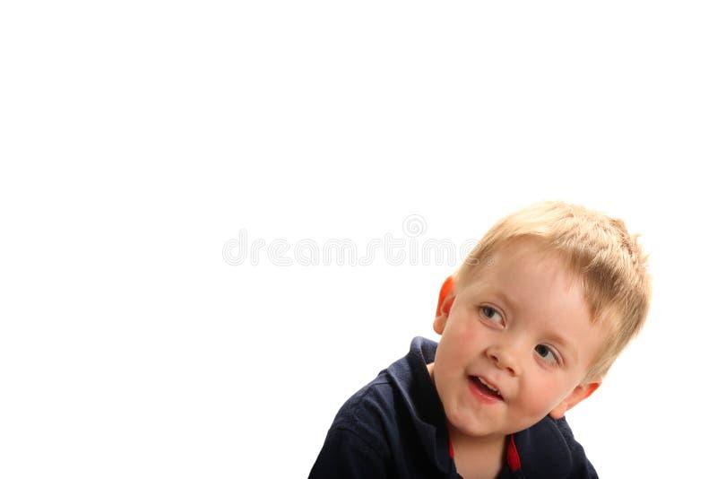 gulligt le för pojke arkivfoton