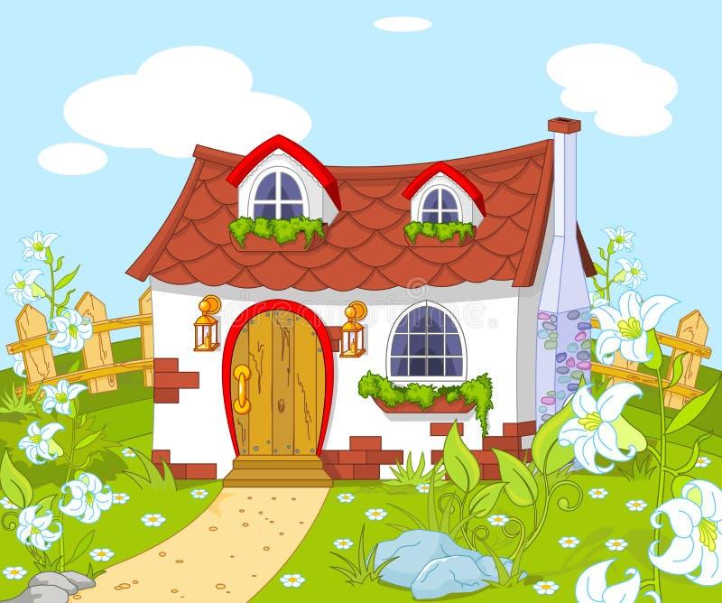 Gulligt lite hus vektor illustrationer