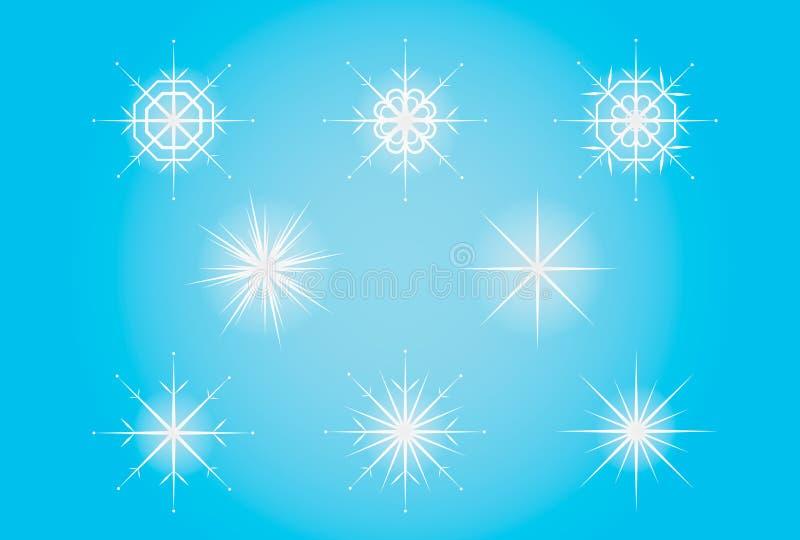 Gulligt lyckligt moln med den sömlösa modellen för snöflinga-, tryck- eller symbolsvektorillustration med snöflingor också vektor vektor illustrationer