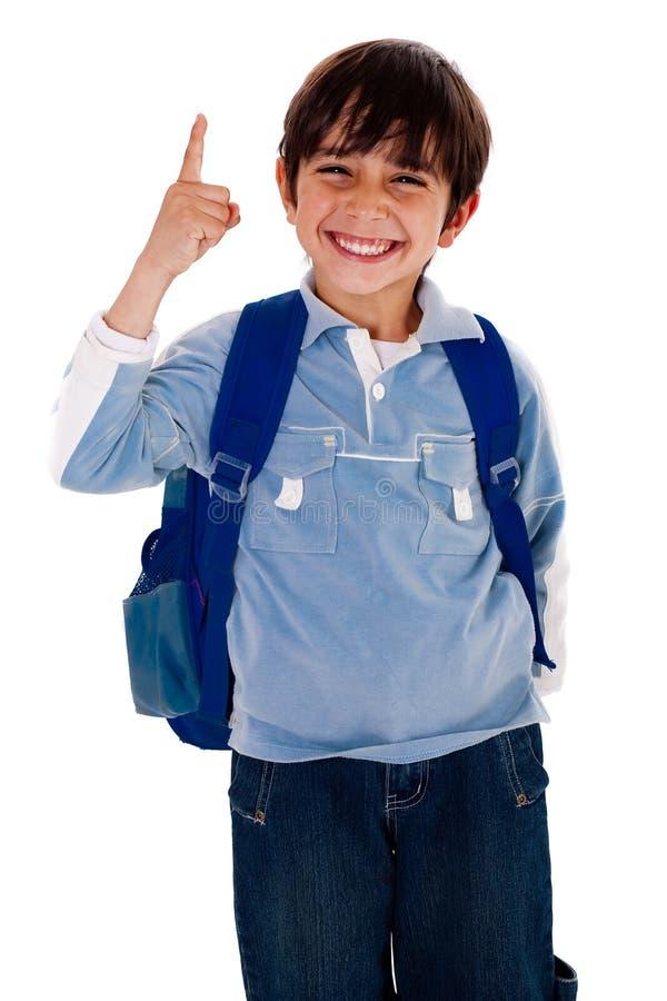 gulligt pekande uppåtriktat barn för pojke royaltyfria foton