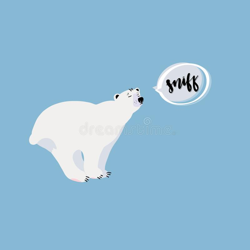 gulligt polart för björn royaltyfri illustrationer