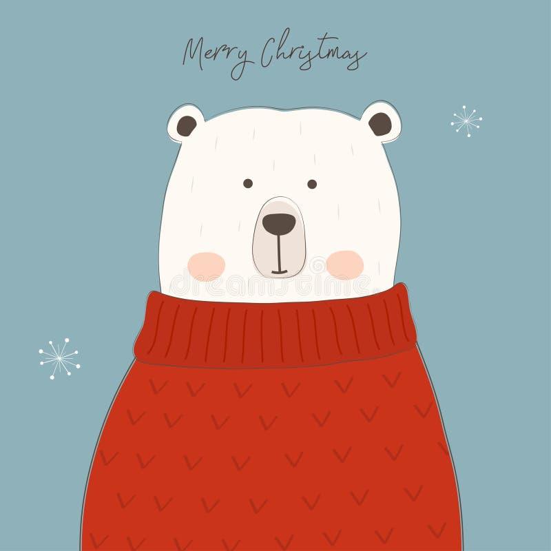 gulligt polart för björn stock illustrationer