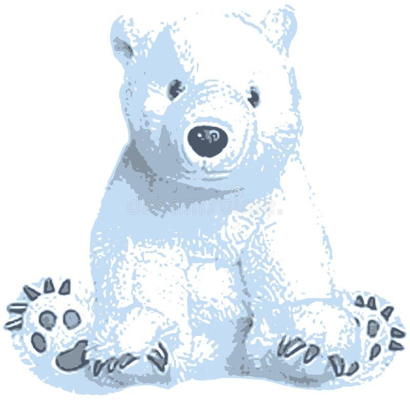 gulligt polart för konstbjörngem royaltyfri illustrationer