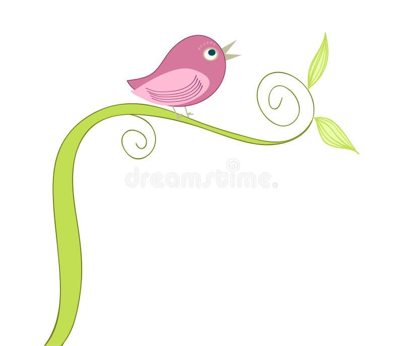gulligt sjunga för fågel royaltyfri illustrationer