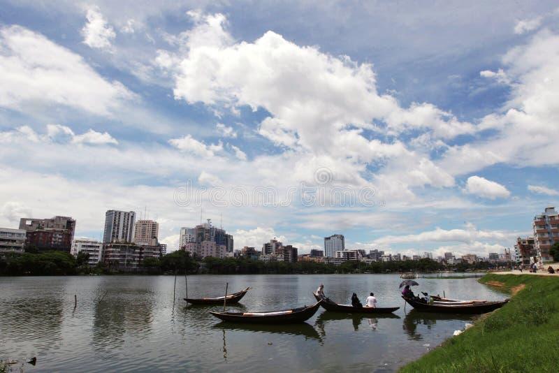 Gulshan sjö på Dhaka arkivbilder
