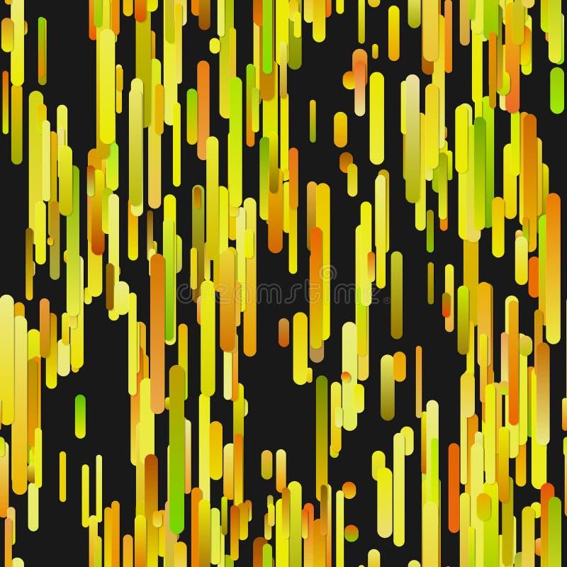 Gult abstrakt begrepp som upprepar den moderna vertikala modellen för lutningbandbakgrund stock illustrationer