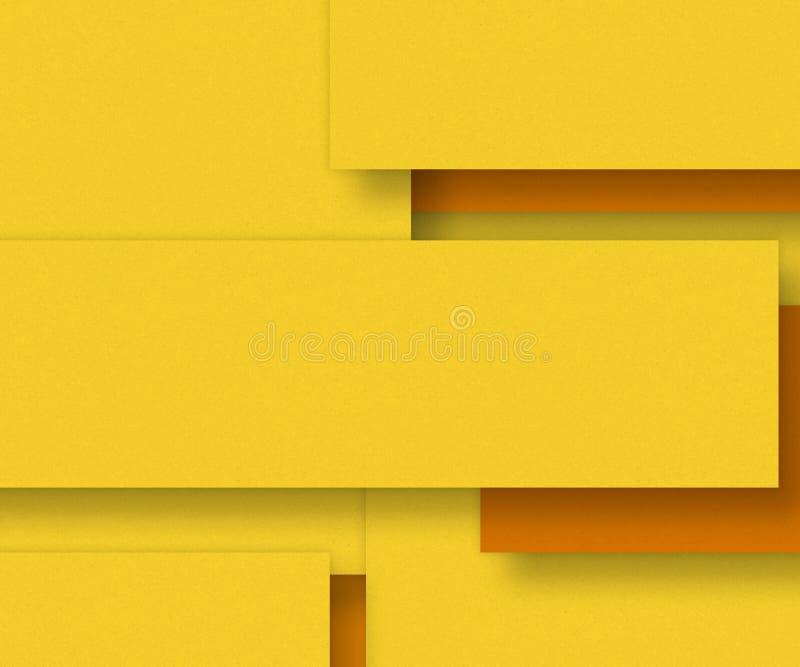 Gult bakgrundsmaterial för tomt papper - planlägg beståndsdelen royaltyfri illustrationer