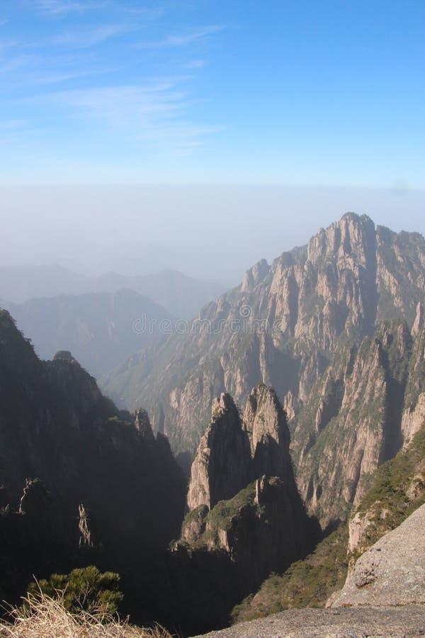 Gult berg - Huangshan, Kina royaltyfri fotografi