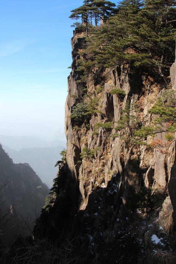 Gult berg - Huangshan, Kina royaltyfria bilder