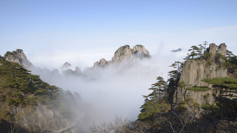 Gult berg - Huangshan, Kina arkivfoto