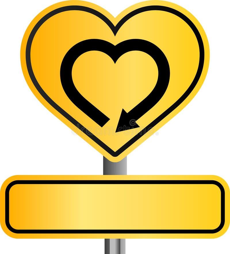 Gult hjärtatecken fotografering för bildbyråer