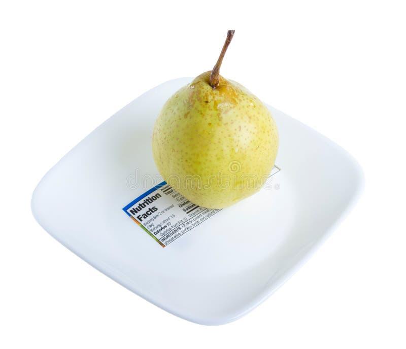 Gult päron. royaltyfria foton