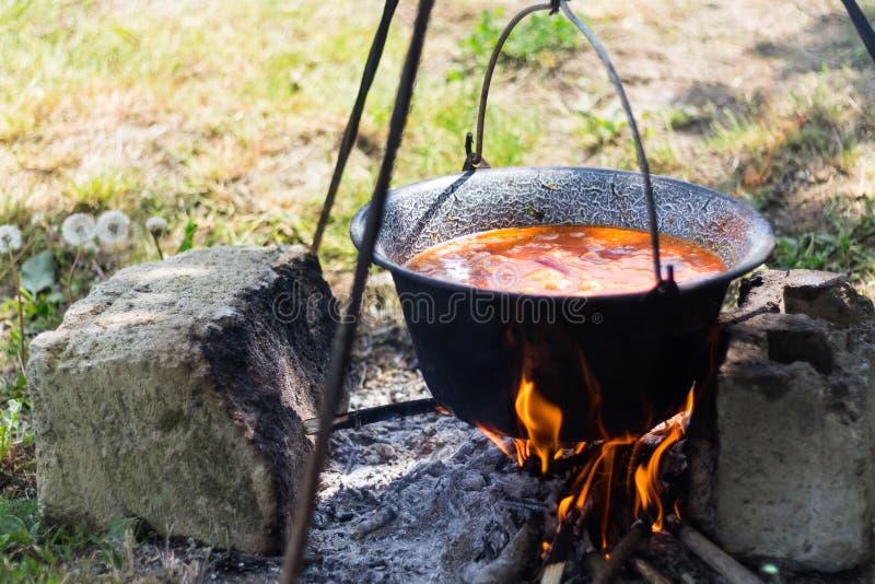 Gulyasleves炖煮的食物 库存图片
