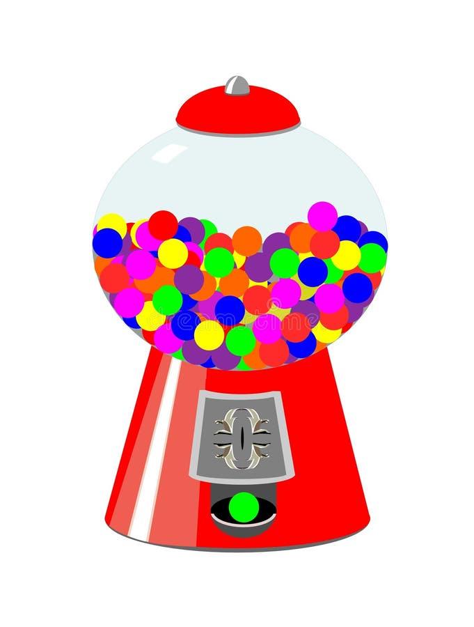 Gum ball vending machine stock illustration