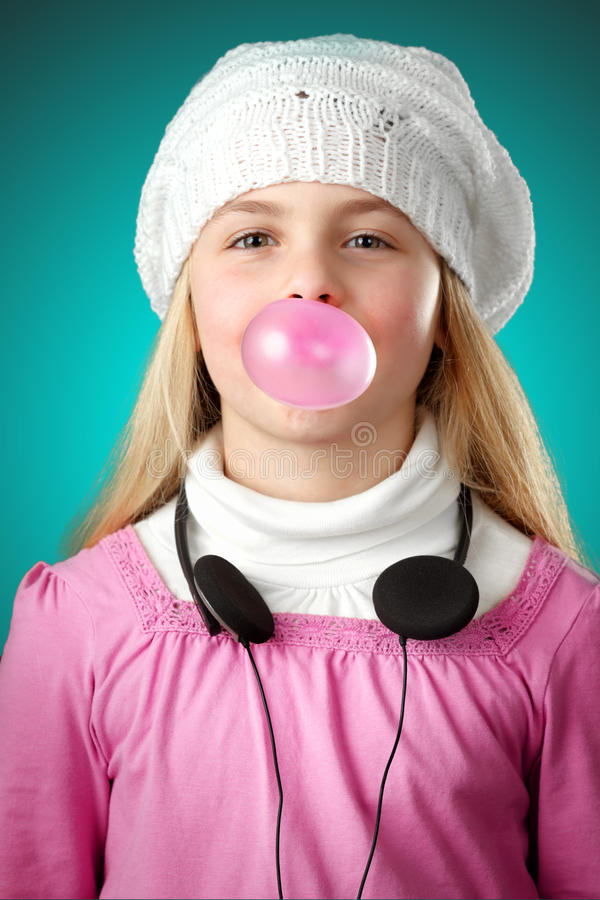 Download Gum bubble stock photo. Image of bubble, green, music - 24683676