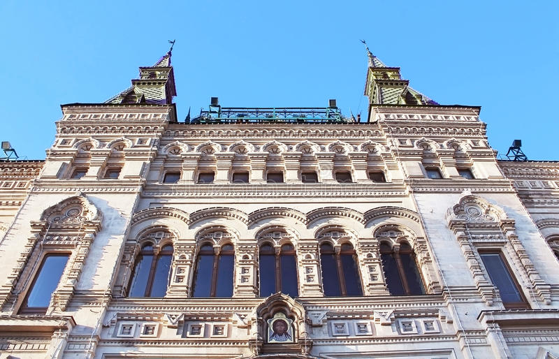 GUM department store, Red Square stock photography