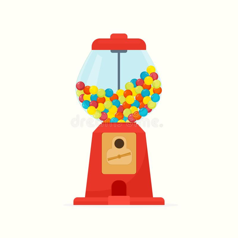 Dispenser with gumball stock illustration