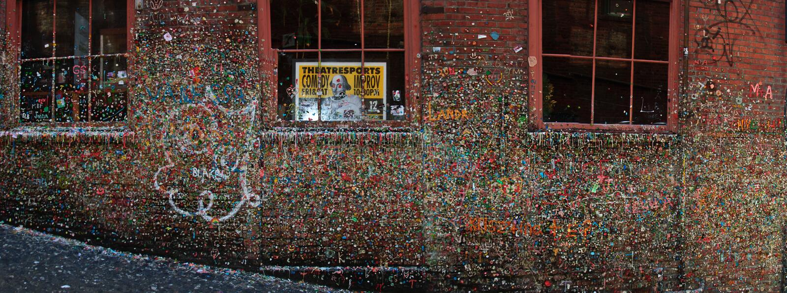 Gum Wall In Post Alley Seattle royalty free stock photos