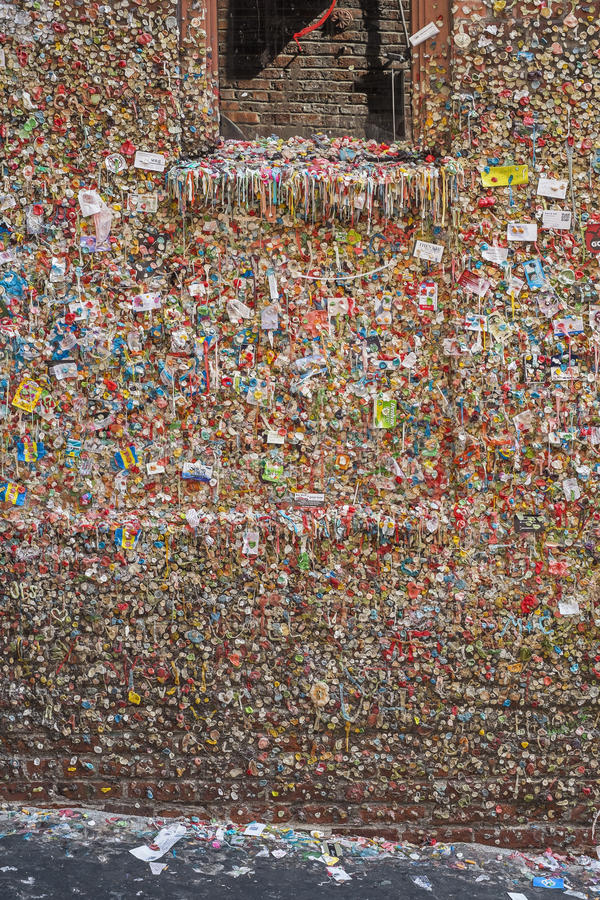 Download Gum Wall in Seattle editorial photography. Image of chewing - 34865257