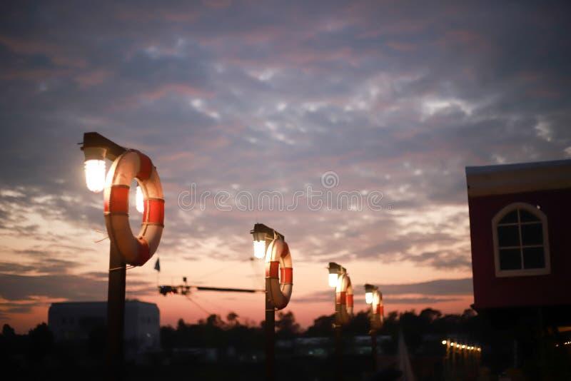 Guma pławika pierścionek w wodnym centrum sportowym fotografia stock