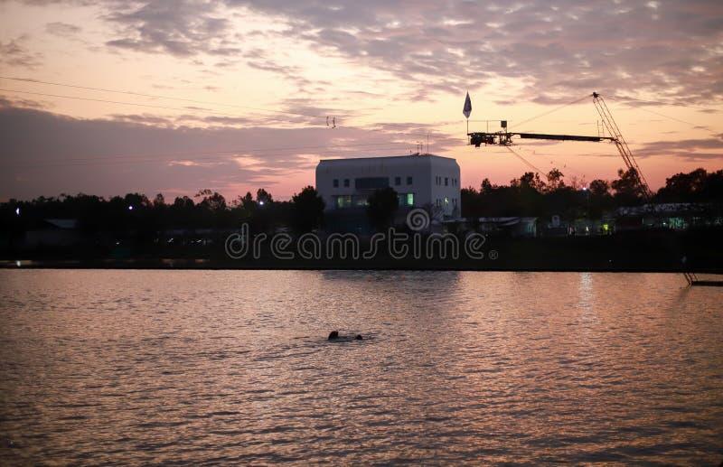 Guma pławika pierścionek w wodnym centrum sportowym obrazy royalty free